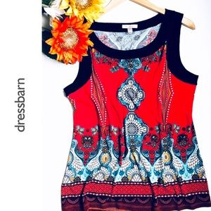 🆕ROZ & ALI Scoop neck Venetian Pattern Tunic